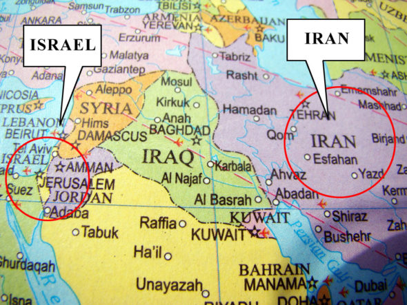 israel-iran-map