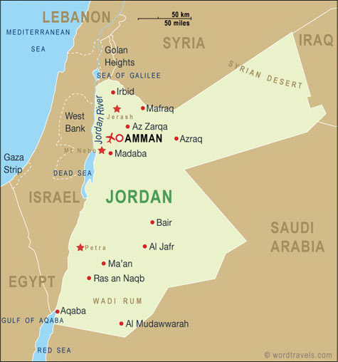 Country Of Jordan Map My Blog - Where is jordan located