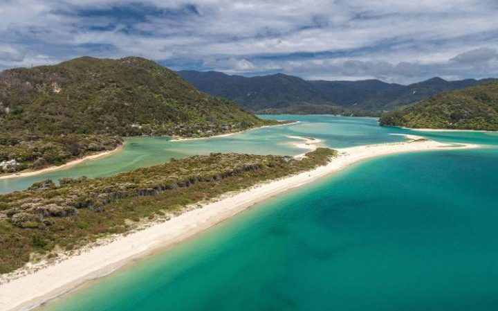 Awaroa beach at Awaroa inlet, an 800m (2,600ft) stretch of golden sand adjoining the Abel Tasman National Park (Photo: AFP)
