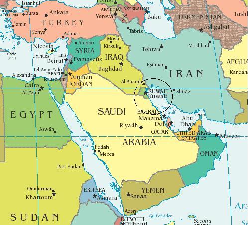 kuwait-map