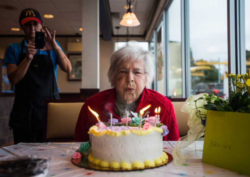 100-year-old gets free McDonald's for life
