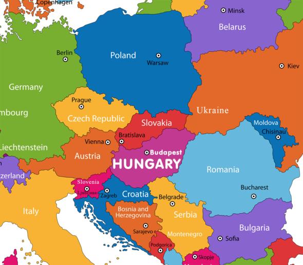 hungary-europe-map