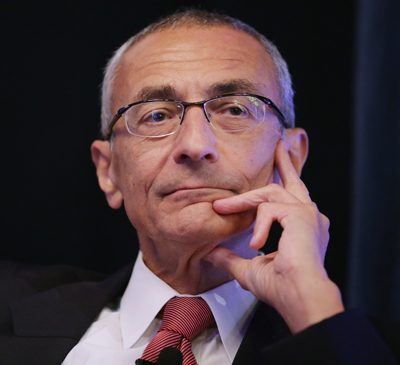 John Podesta is the Chairman of the 2016 Hillary Clinton presidential campaign. He previously served as Chief of Staff to President Bill Clinton and Counselor to President Barack Obama.