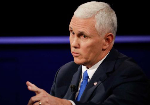 Donald Trump's runningmate, Republican nominee for vice president, Mike Pence.
