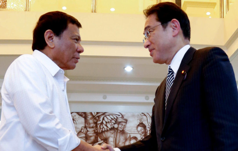 Philippine leader's gum chewing worries Japan