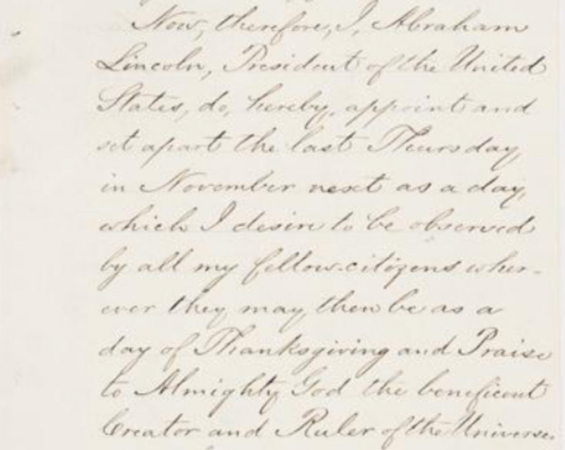 Written by Abraham Lincoln in 1864 (Document: The National Archives).