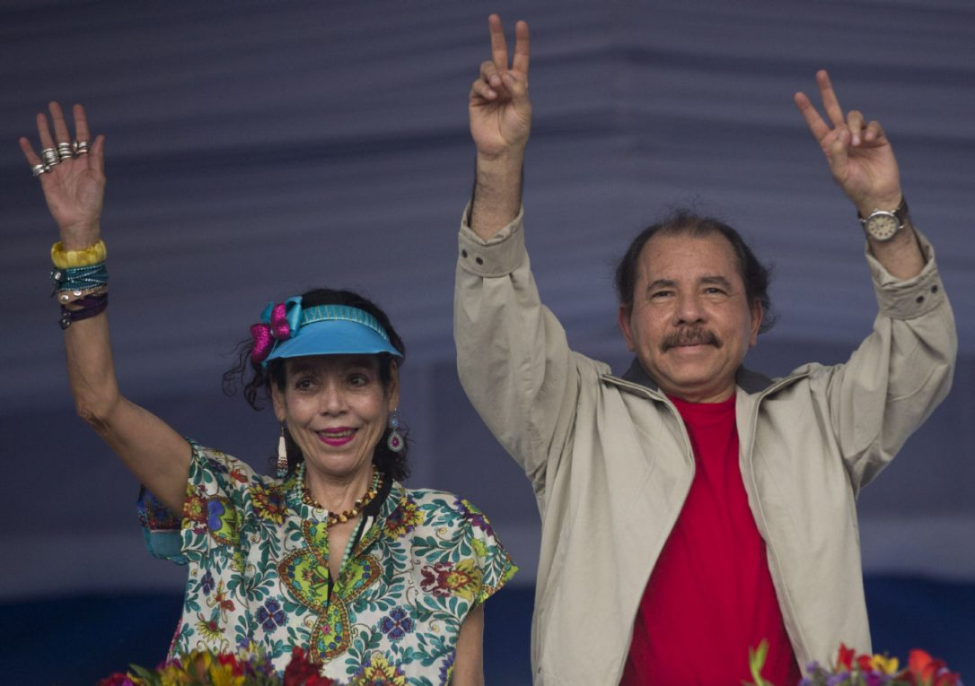 Nicaraguan President Daniel Ortega and his wife and Vice-President, Rosario Murillo.