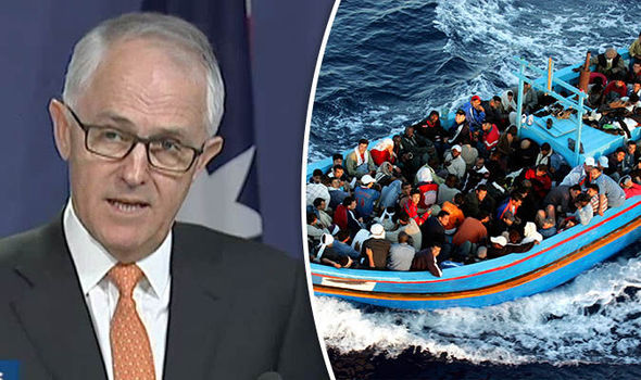 PM Turnbull said Australia needed to send a clear message to people smugglers.
