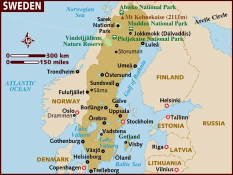 News From Sweden Germany And Turkey - Sweden map regions