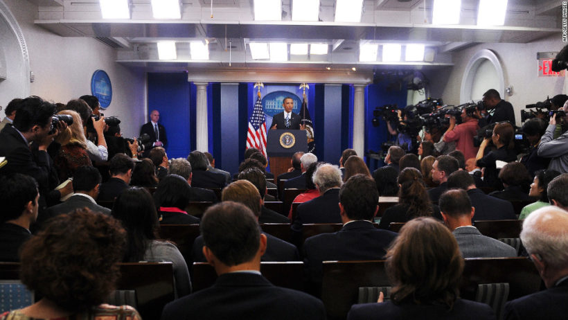 Trump Team Considers Moving Press Briefings to Expand Capacity