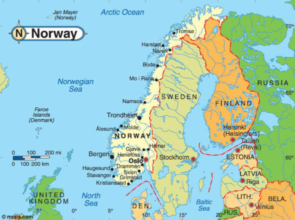 News From Norway Poland And Japan - Norway map cartoon