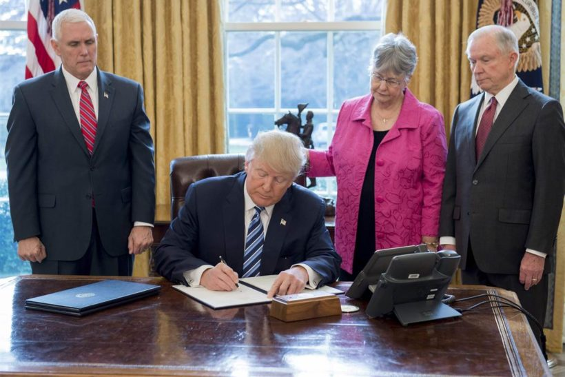 Trump signs 3 executive orders targeting drugs, crime