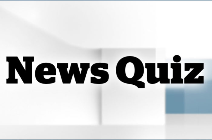 News quiz for week ending 12/6/19