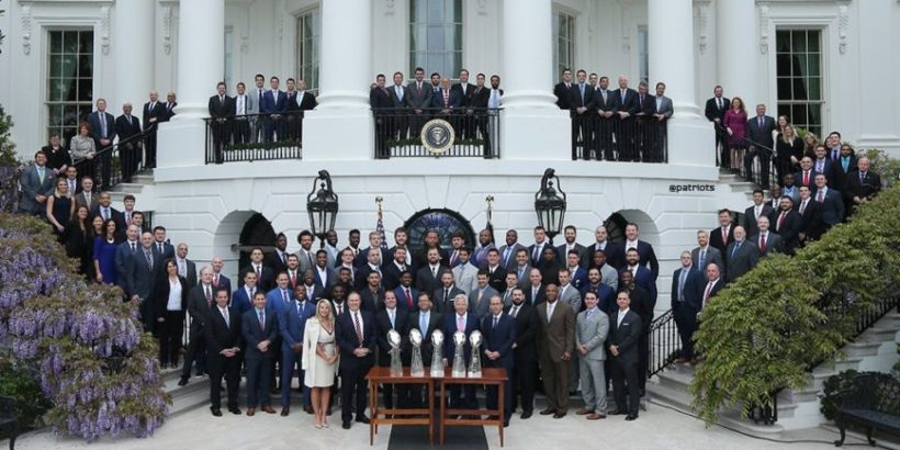 "NY Times ""Misleading"" Photo of Patriot's White House Visit"