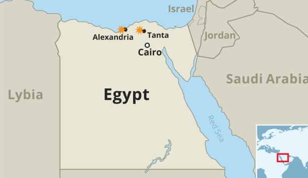 Egypt Christians Killed In Palm Sunday Bombings - Map of egypt 2017