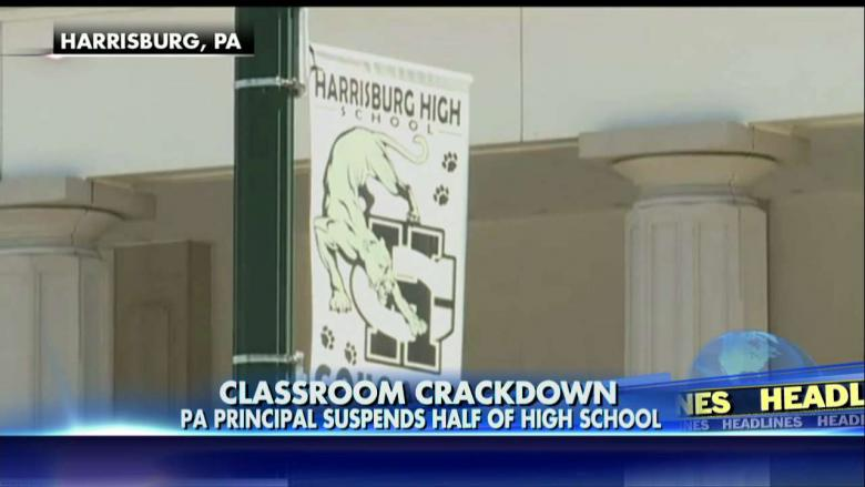 Almost half of the students at PA high school given suspension notices