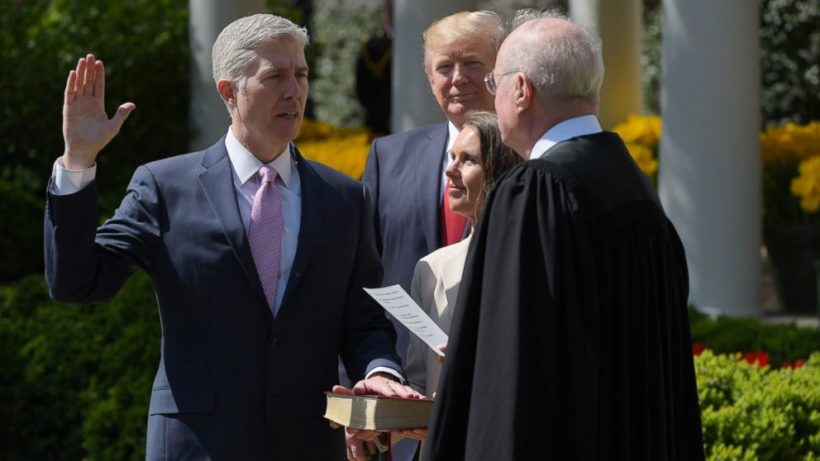 Gorsuch sworn in ahead of key Supreme Court cases