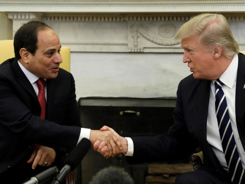 "Trump to al Sisi: ""We are very much behind Egypt"""