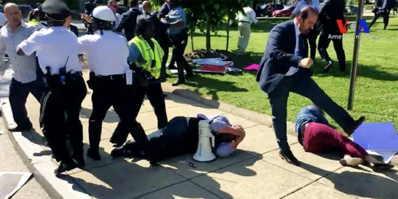 Turkish president's bodyguards beat up protesters in D.C.