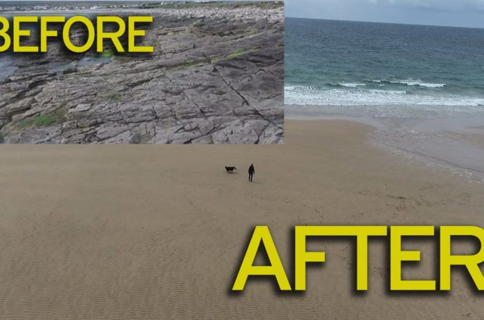 Irish beach washed away 33 years ago reappears overnight