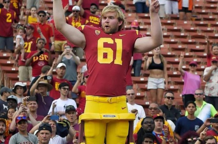 USC's Jake Olson has been blind since age 12