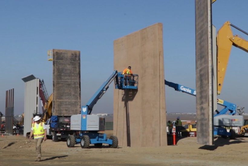 Prototypes for new border wall almost finished