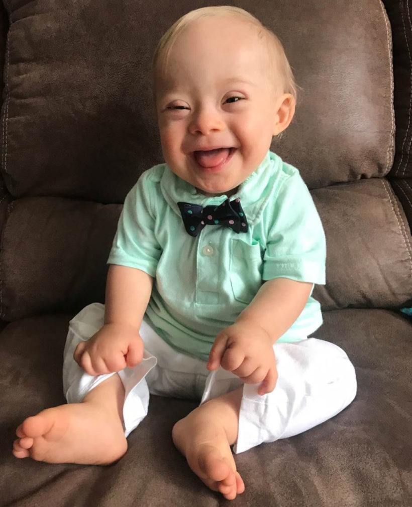 Meet the first Gerber baby with Down syndrome. His name is Lucas.