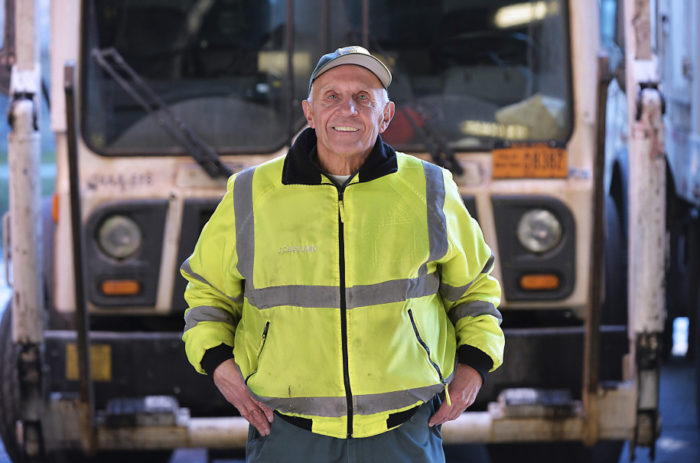 NYC's longest-serving sanitation worker