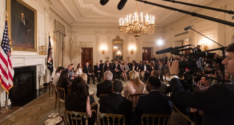 Trump holds listening session with students