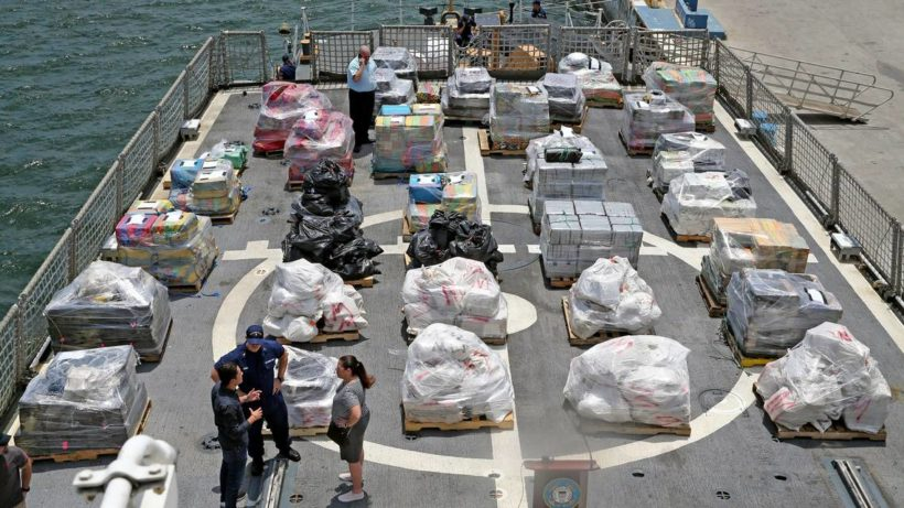 Tons of Cocaine and marijuana worth nearly $400M seized by Coast Guard