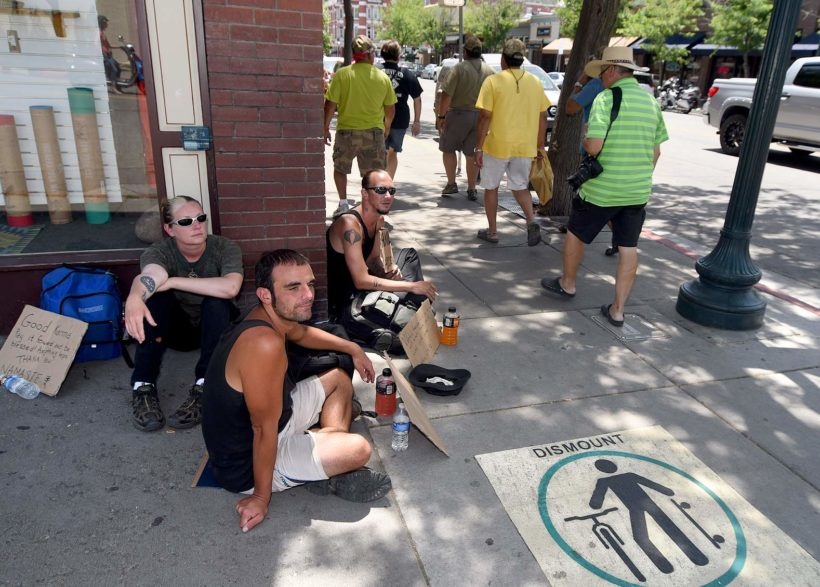 City makes it illegal to sit or lie on sidewalks