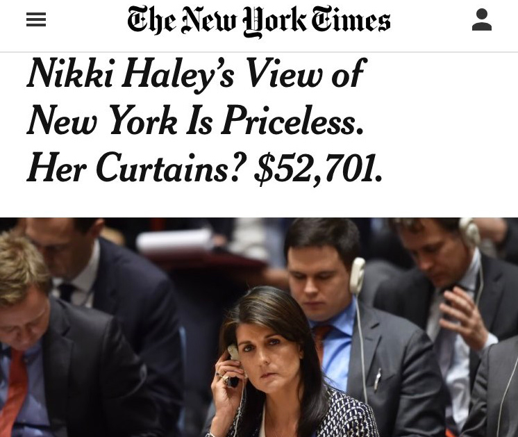 NY Times smears Nikki Haley; Weather Channel reporter exaggerates conditions