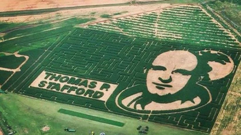 Astronaut Corn Maze Photographed From Space