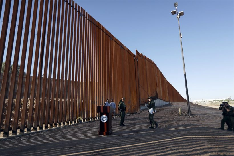 DHS unveils Trump's first completed border wall project