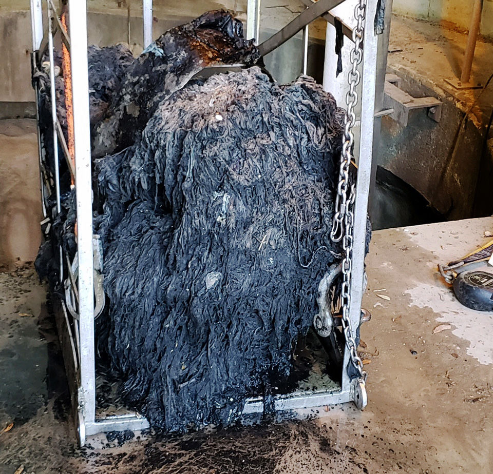 Simply Not Flushable Thousands Of Pounds Of Wipes Clog
