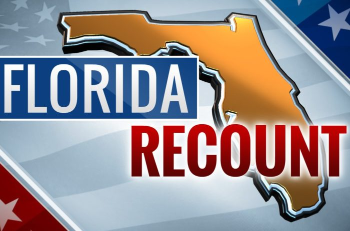 U.S. #3 – FLORIDA: Recounts ordered in Florida elections for senator, governor