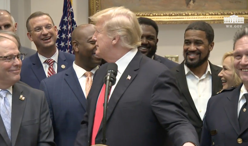 Trump announces his support for criminal justice reform legislation, saying it's 'the right thing to do'