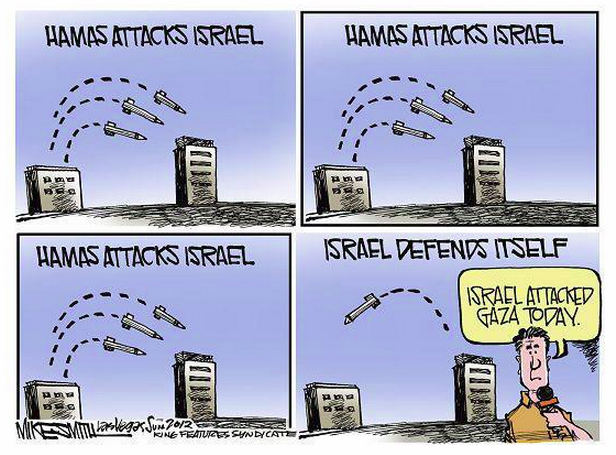 NYT's False Equivalence Between Hamas and Israeli Rockets