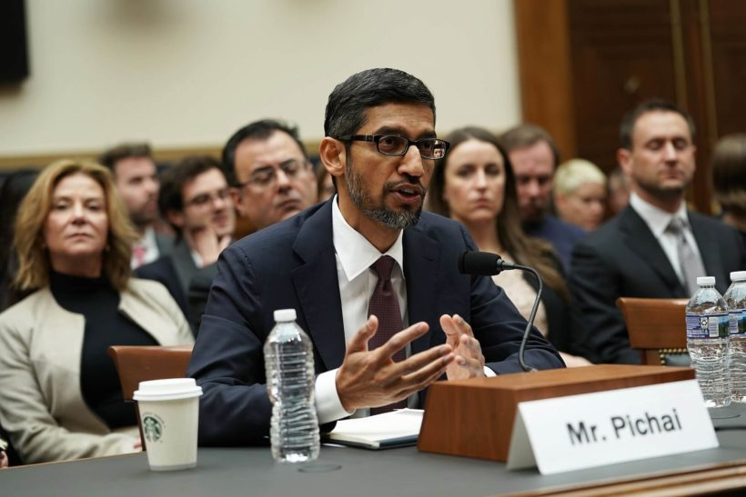 Google CEO denies any bias in the company