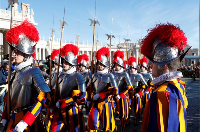 Papal Swiss Guard keep cool heads with 3-D helmets