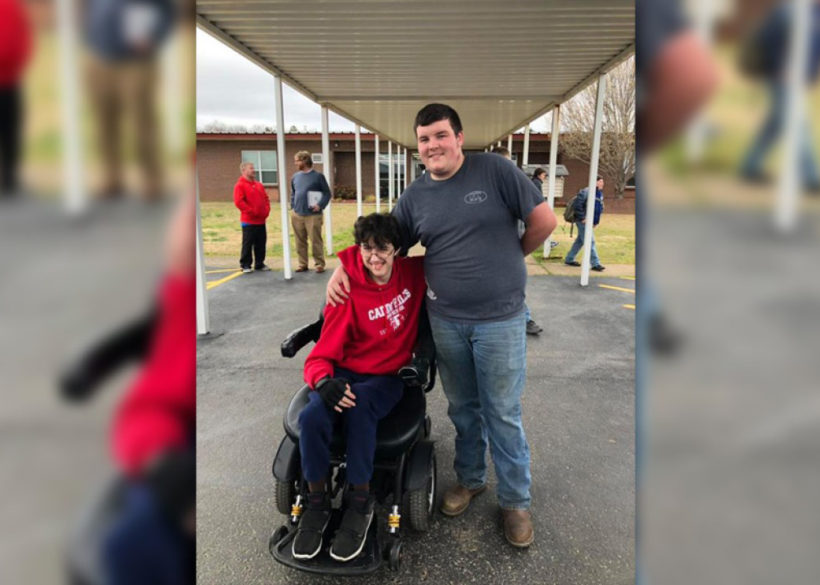 High school student saves for over 2 years to buy his friend a new wheelchair