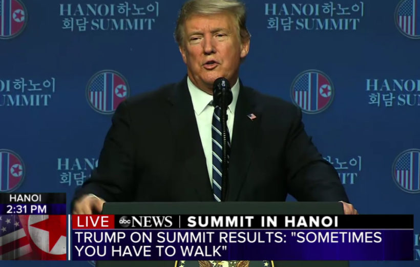 Trump cuts short North Korea summit saying: 'Sometimes you have to walk'