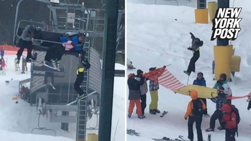 Teens save boy dangling from ski lift