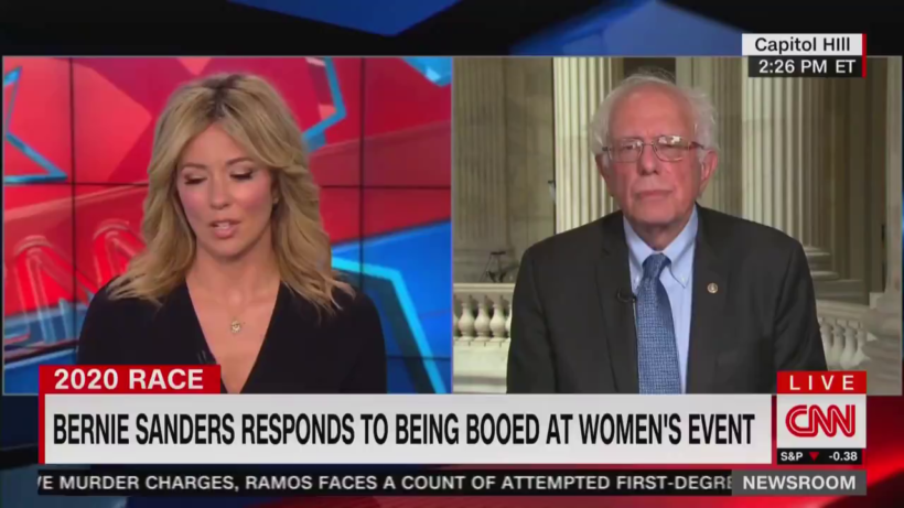 CNN interviews presidential candidate Bernie Sanders – ignores mass protests in Venezuela