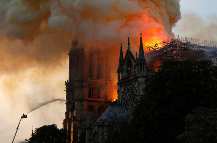 World #1 – FRANCE: Developing Story – Fire guts Paris' Notre Dame Cathedral