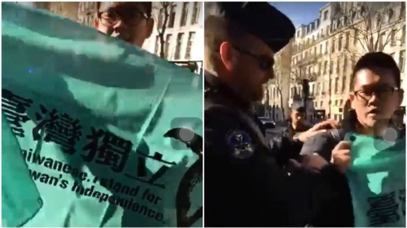 World #2 – Taiwanese student protesting China's Xi Jinping detained by Paris police