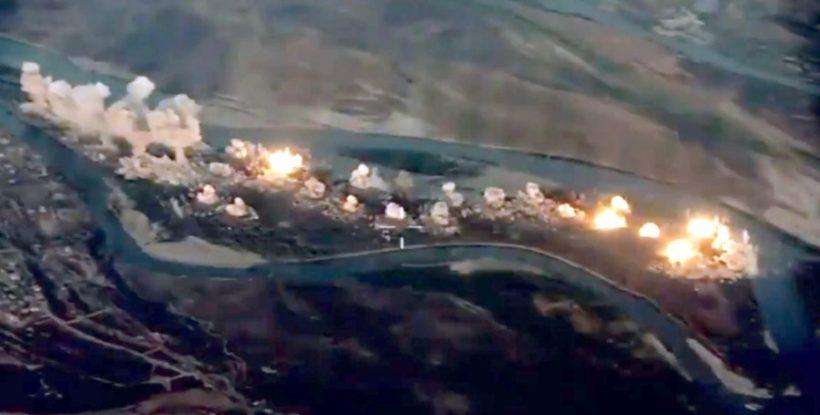 US bombs ISIS island
