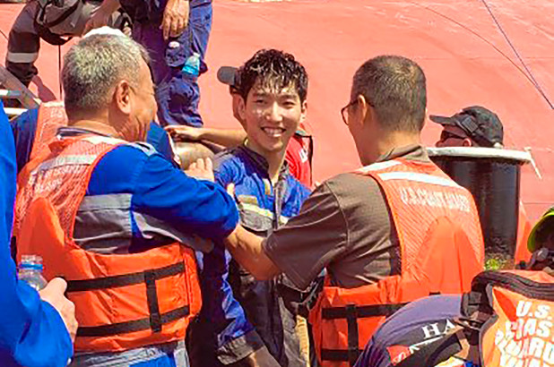World #3 – U.S. Coast Guard rescues final crew member from overturned cargo ship