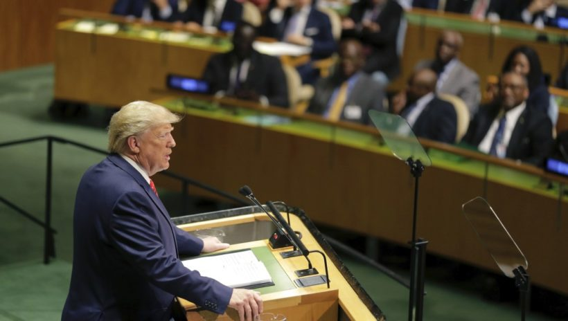 Trump says future belongs to patriots, not globalists, in U.N. speech