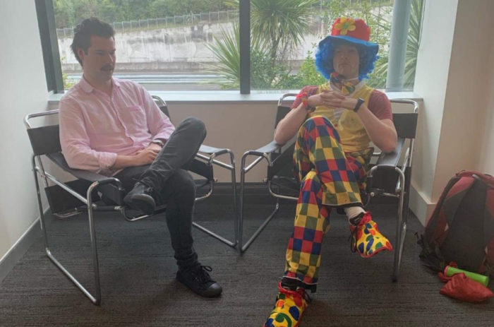 Man being fired brings emotional-support clown to meeting